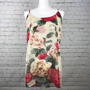 Show Me Your Mumu   Floral Rose Tank Sz L